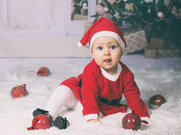 Weihnachts-Shooting mit der kleinen Matilda als Santa Claus