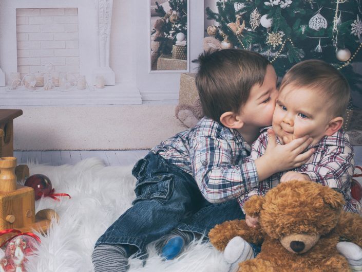 Weihnachts-Shooting mit Leo, Joshua und Mama