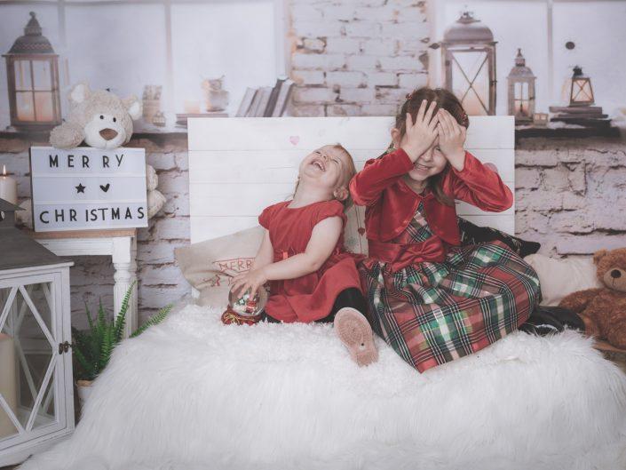 Weihnachts-Shooting mit Luisa und Marie im Studio in Lahnstein