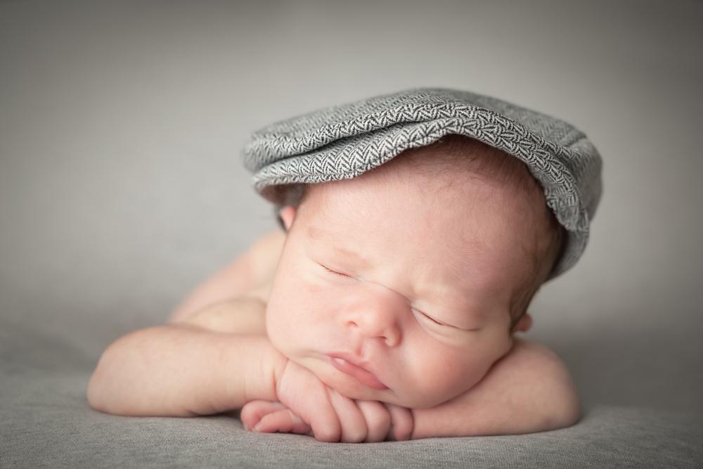 Neugeborenen-Fotografie mit Mein kleiner Spatz